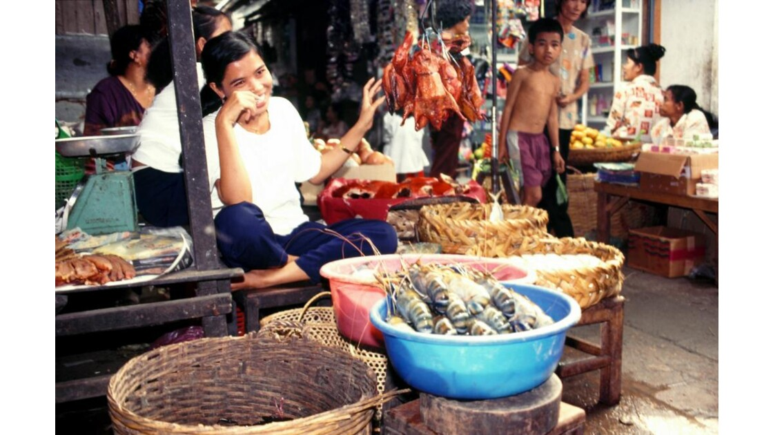 Cambodge marché au poisson