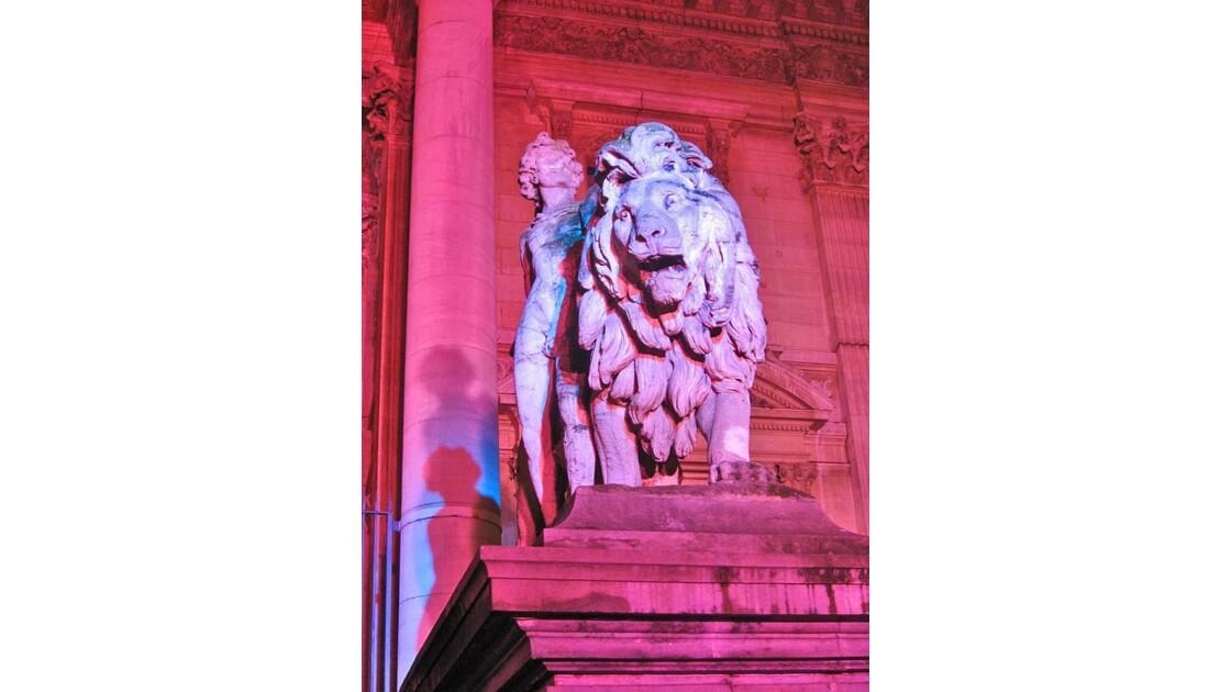 Le lion belge, place de la Bourse