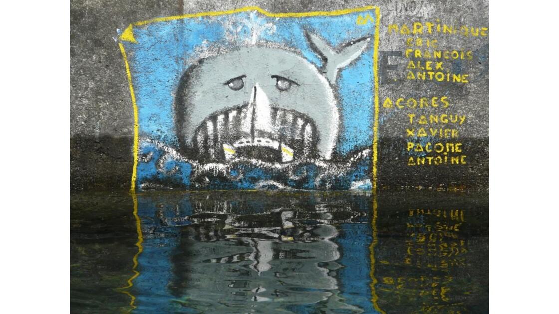 Peinture au port de Horta