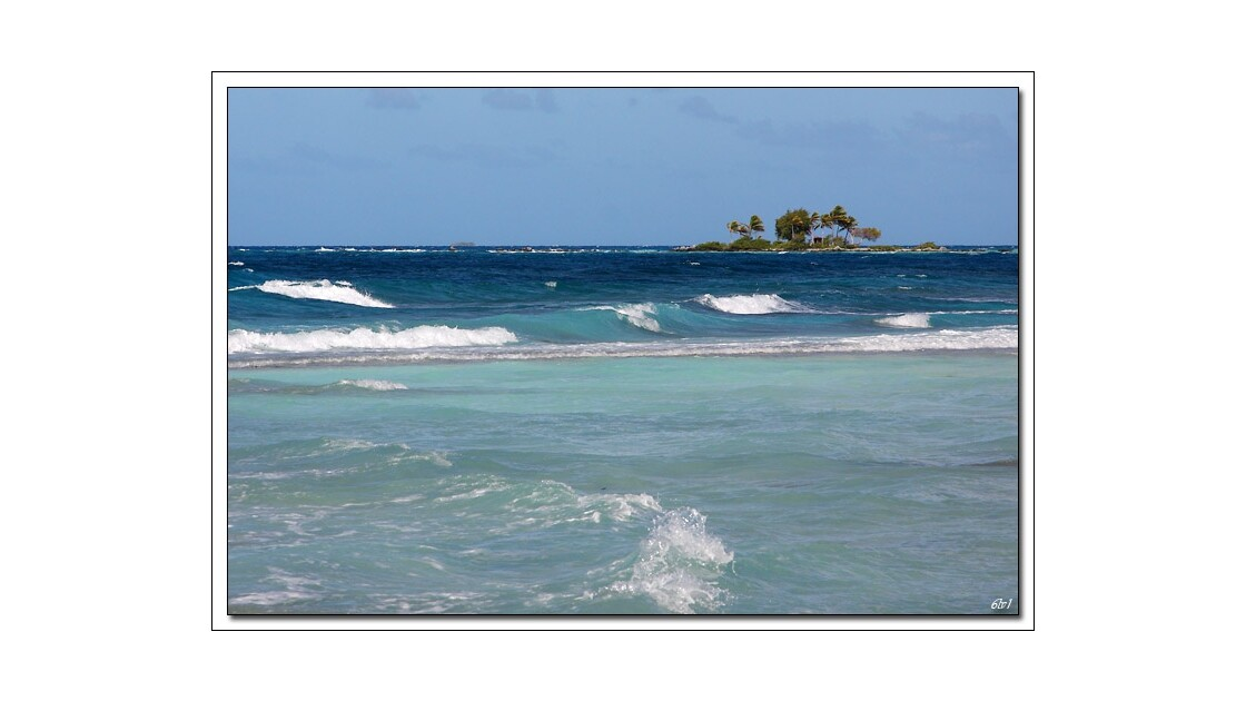 Polynésie - Rangiroa - Le lagon agité