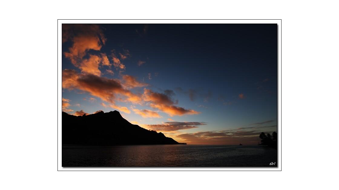 Polynésie - Moorea - Coucher de soleil