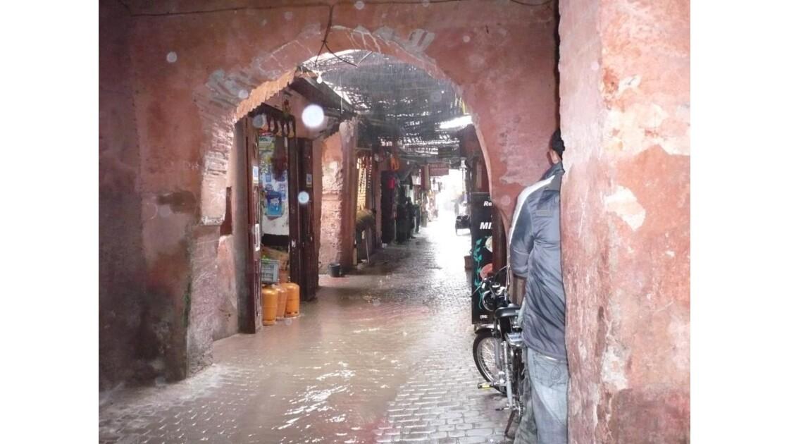 déluge dans la medina,marrakech