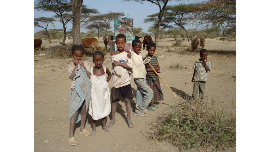 Enfants, village, région du La Ziway