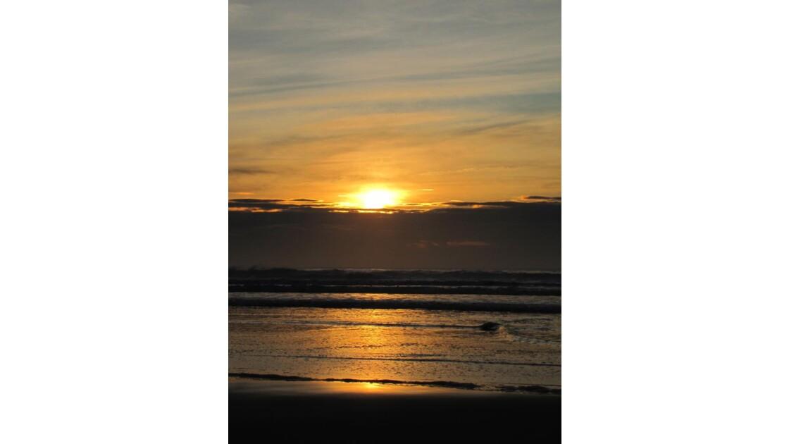 coucher de soleil à LACANAU-OCEAN