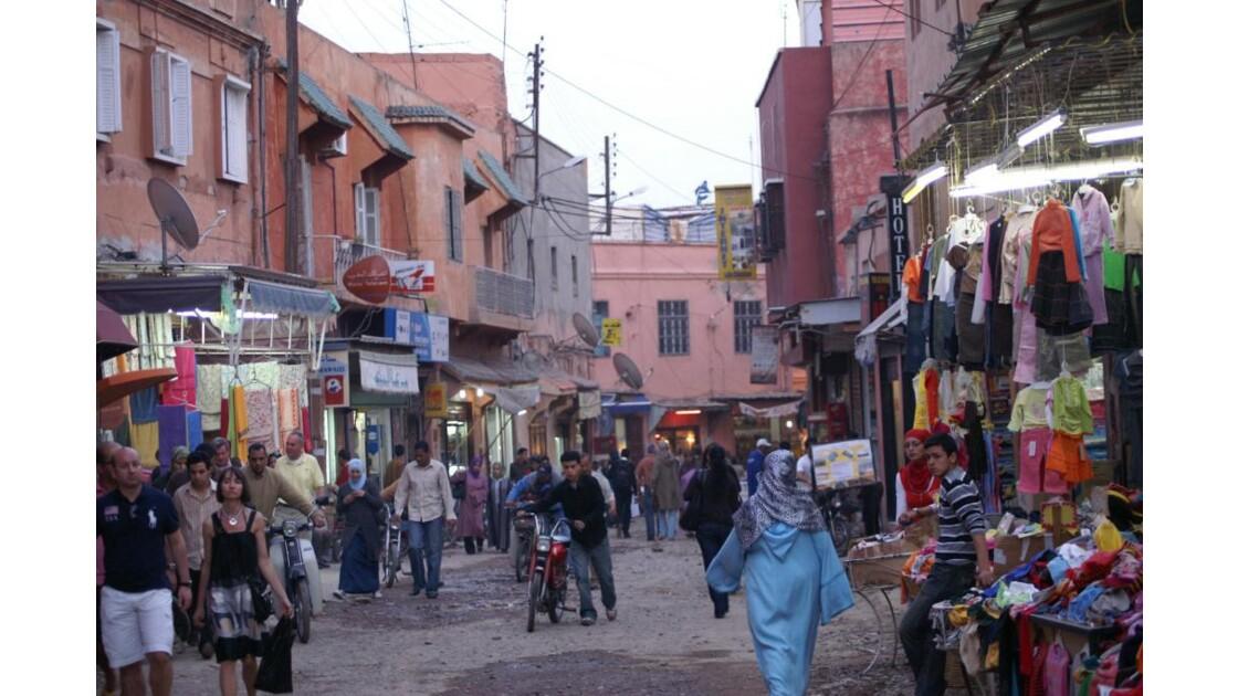 Dans les rues de la Médina à Marrakech