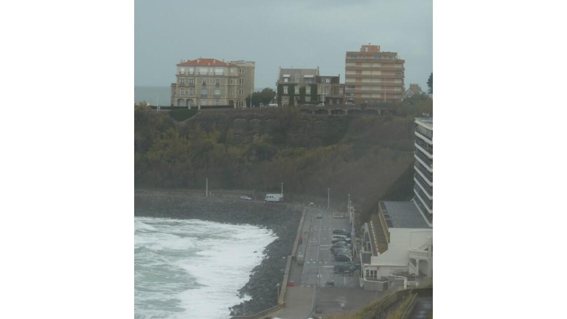 Marée haute à la Côte des Basques