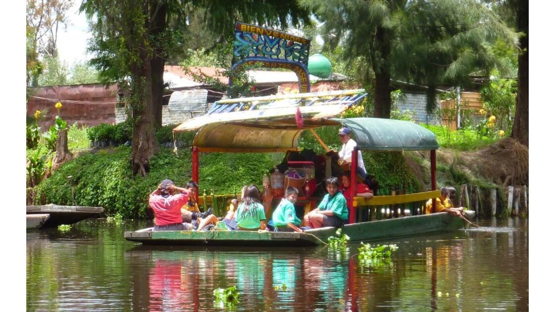Mexique-Canaux de Xochimilco