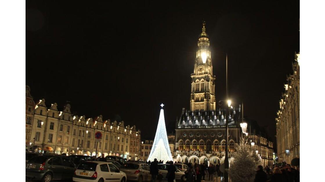 place d'Armes le beffroi,Noël, Arras
