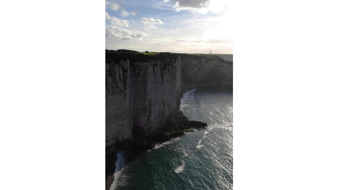 falaises d'Etretat à marée haute