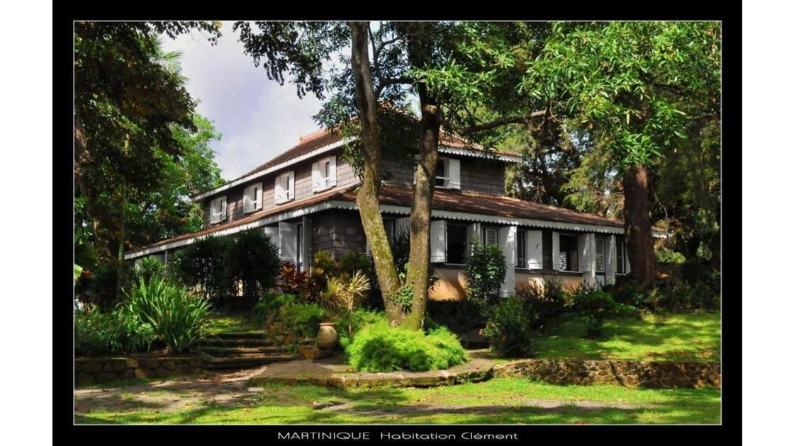 Martinique, habitation Clément