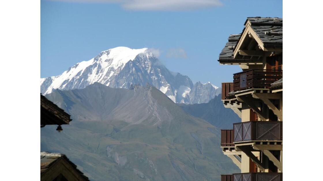 Les Arcs 1950: vue sur le Mont Blanc