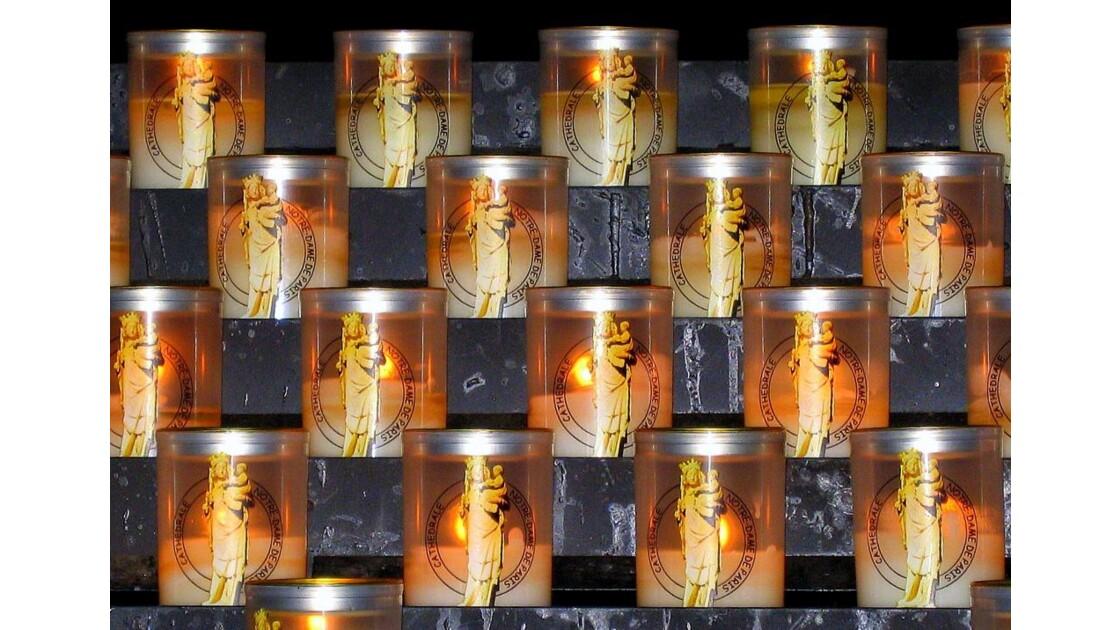 Les bougies de Notre-Dame-de-Paris