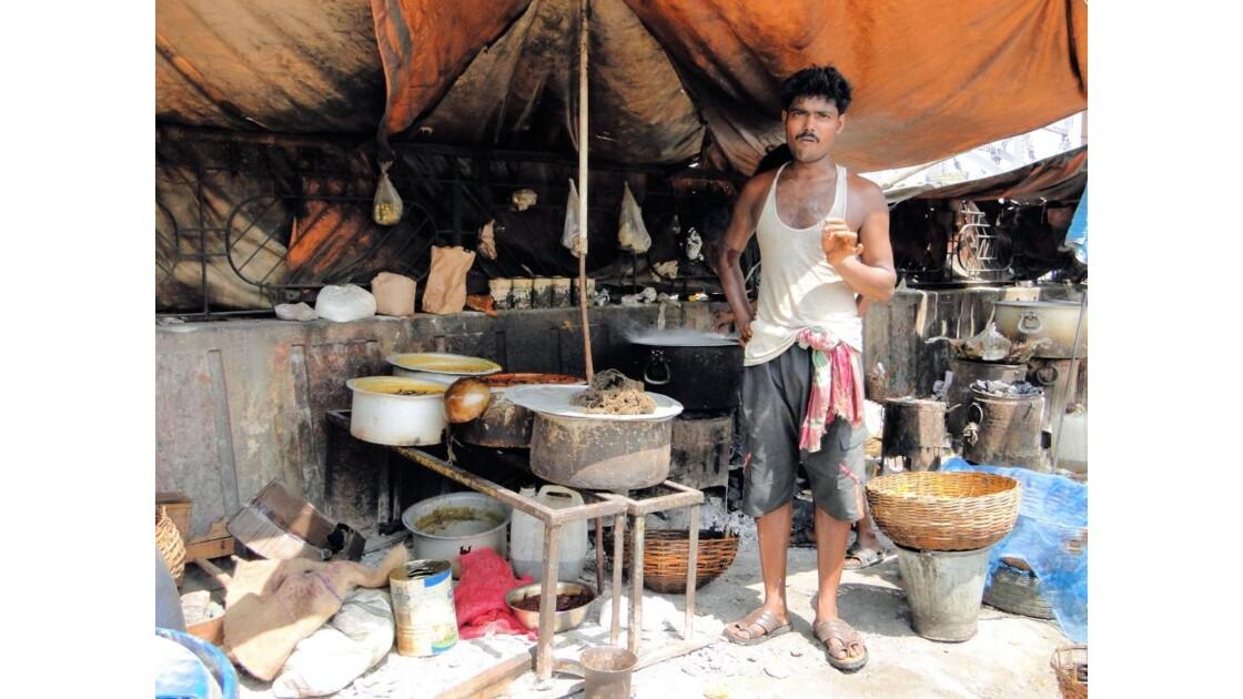 Calcutta: restaurant de rue