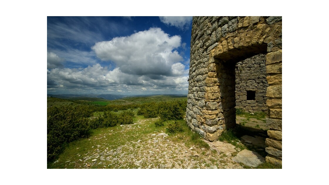 Ruine de moulin, Lozère