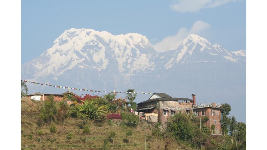 Vue sur les Annapurna