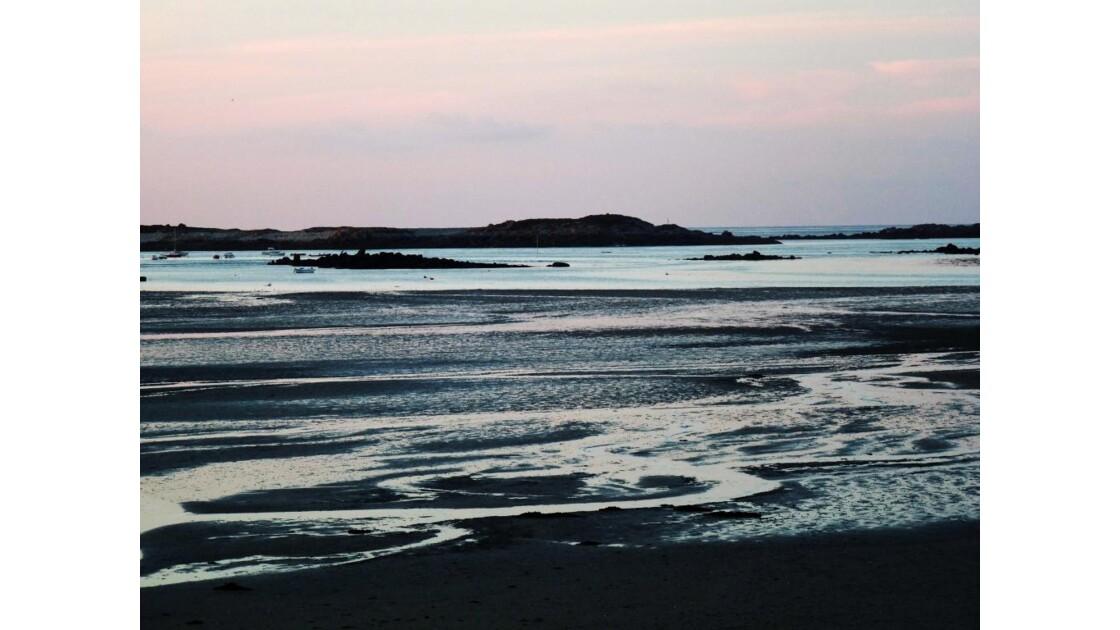 crépuscule à marée basse