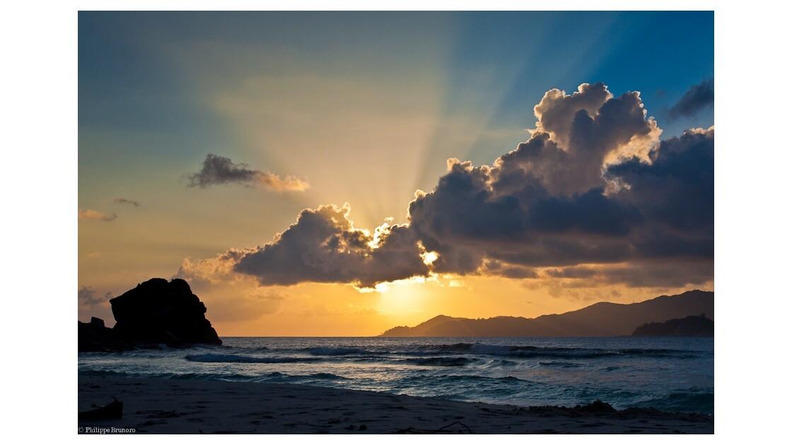Coucher de soleil sur Grande Anse