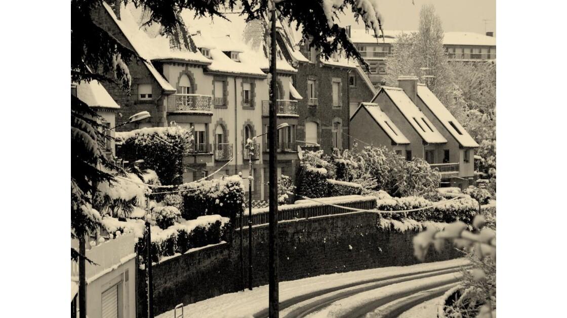 Saint Brieuc sous la neige