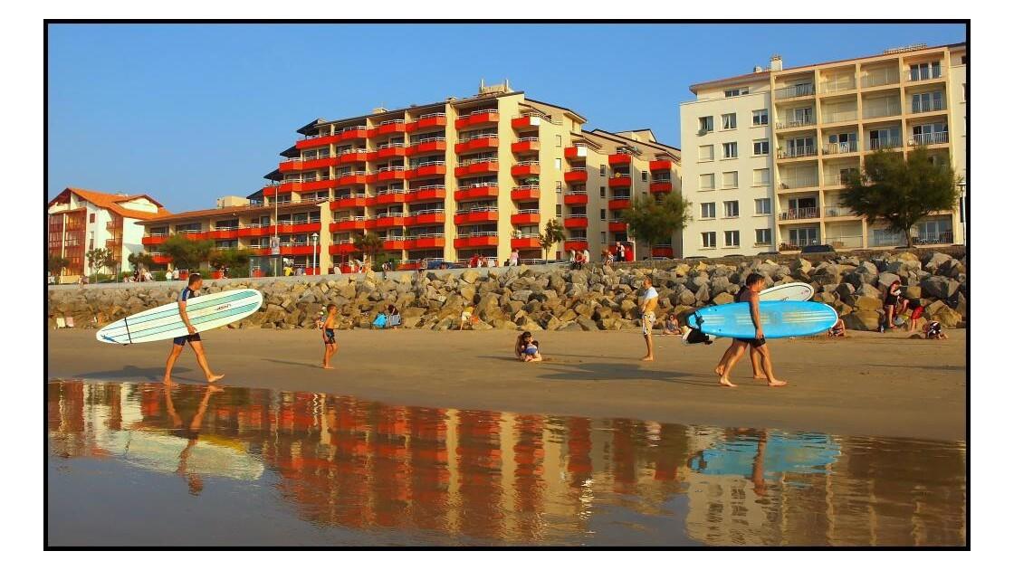 Retour de surf à Hendaye