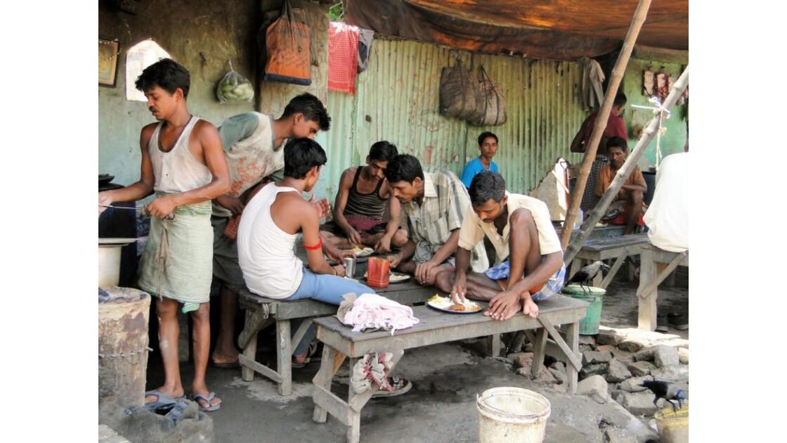 Calcutta - restaurant de rue