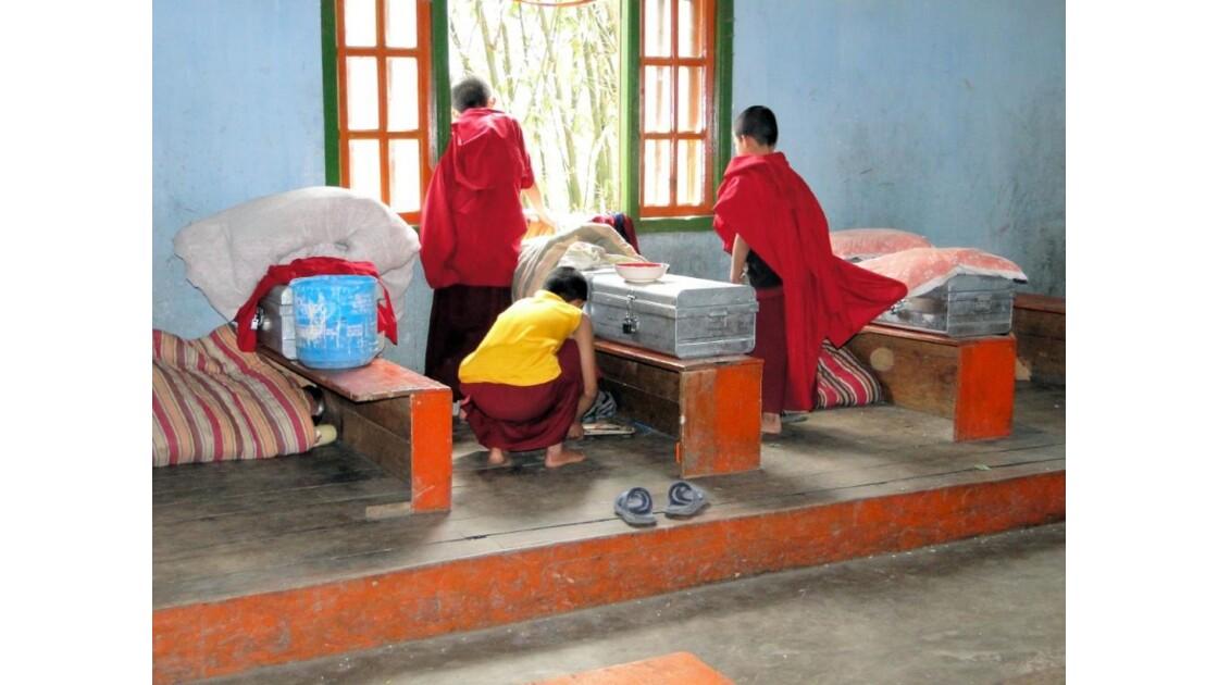 Hébergement de jeunes moines