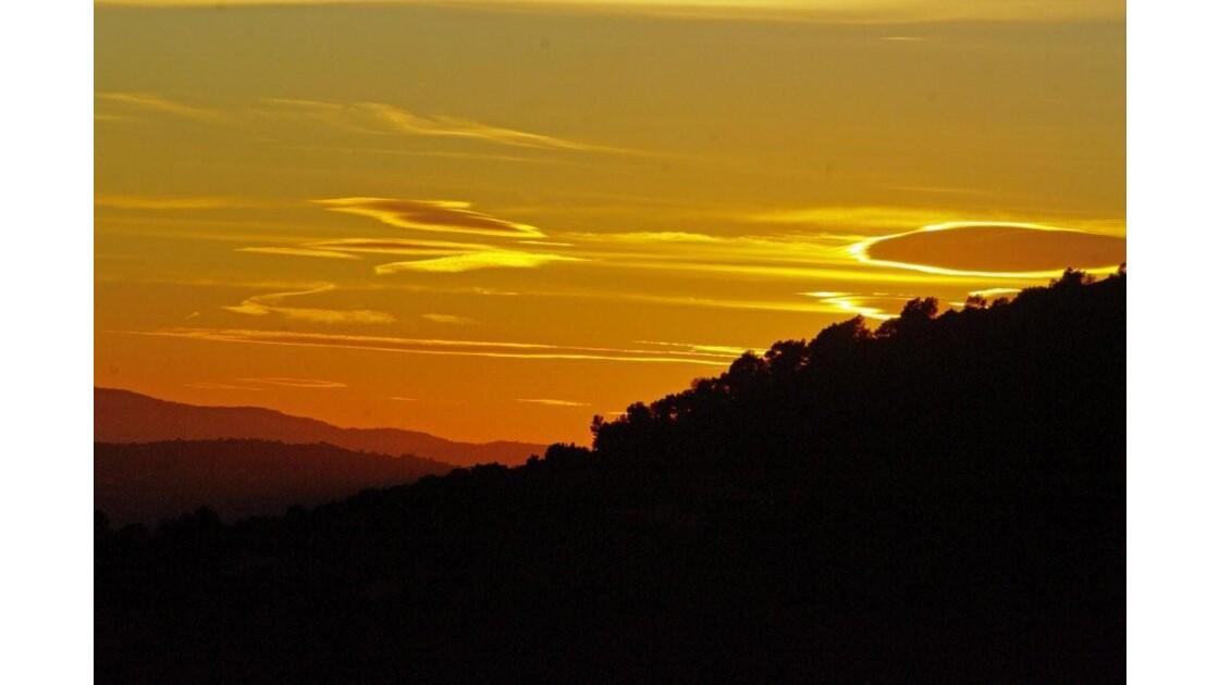 ciel du soir Grasse 11 NOV