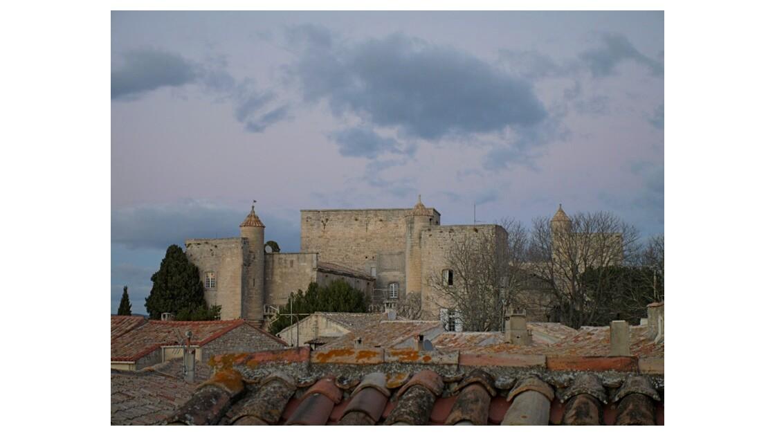 vue sur le chateau du village