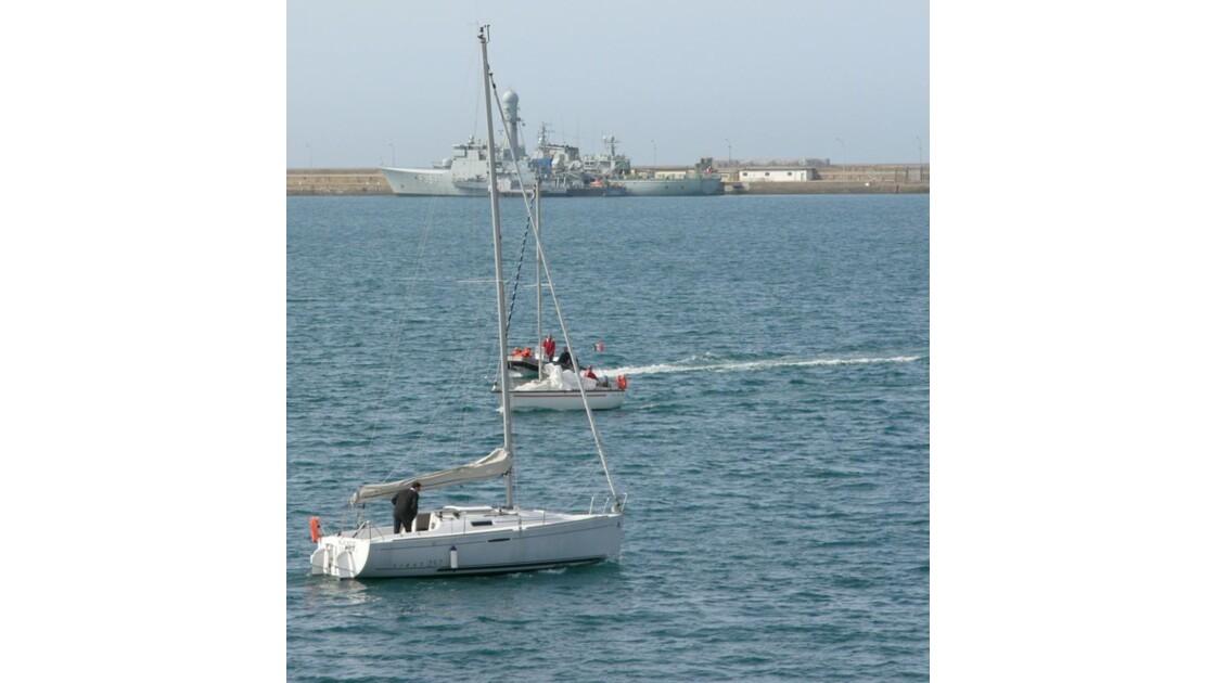 La rade de Cherbourg: plusieurs invités