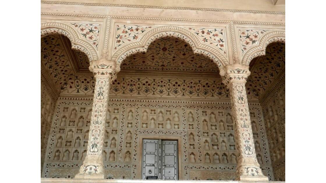 Mosaïque au fort rouge à Agra .JPG