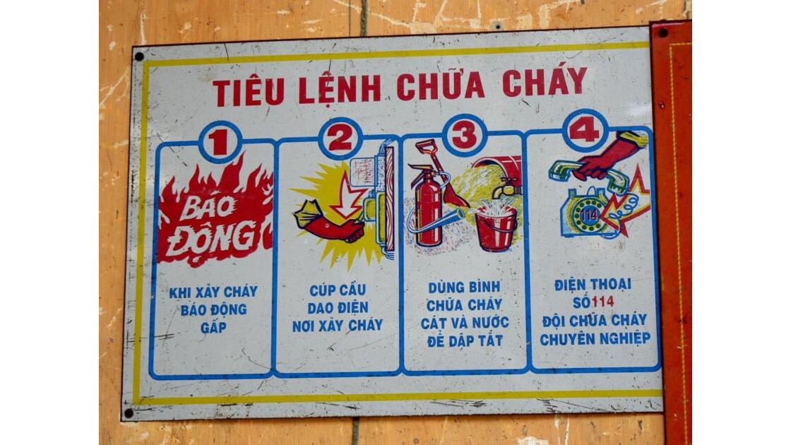 Consignes incendie - Dalat - Vietnam