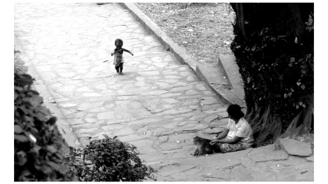 Au pied du Phnom