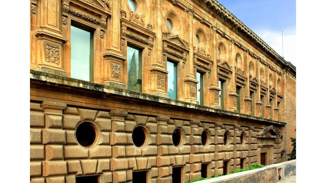 Détails 1 façade Palais CharlesQuint