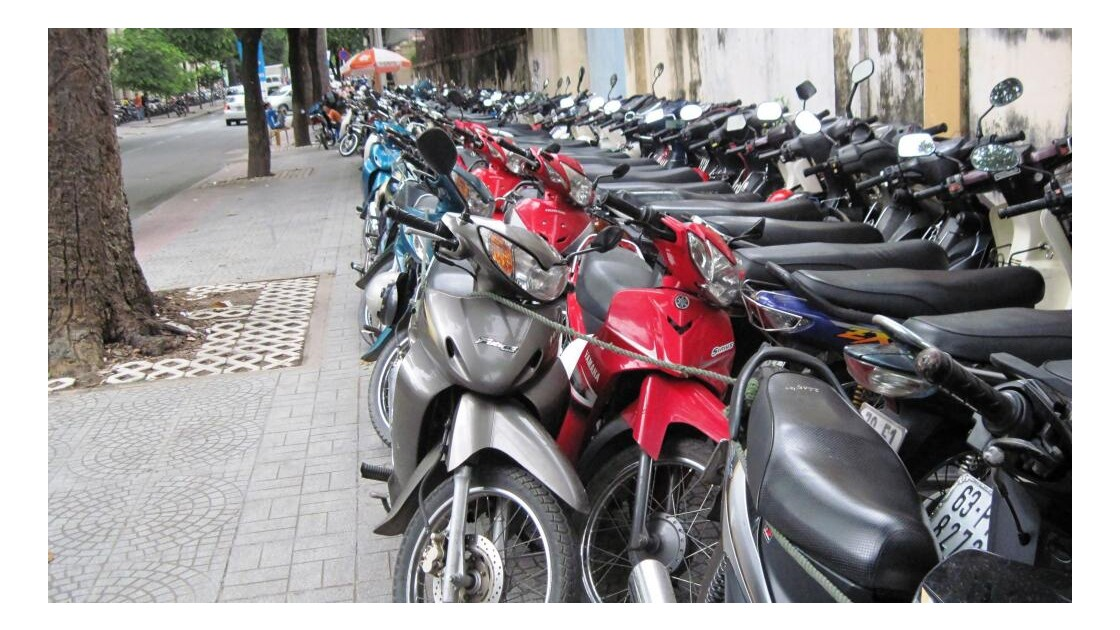 Saigon. Parking.