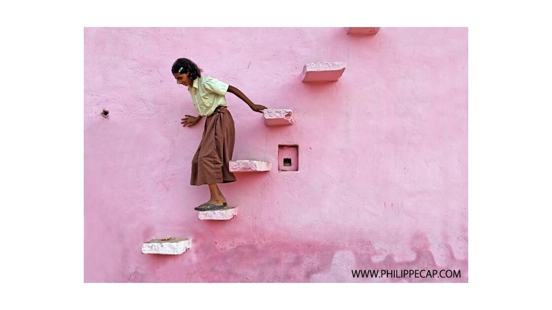 L'escalier rose