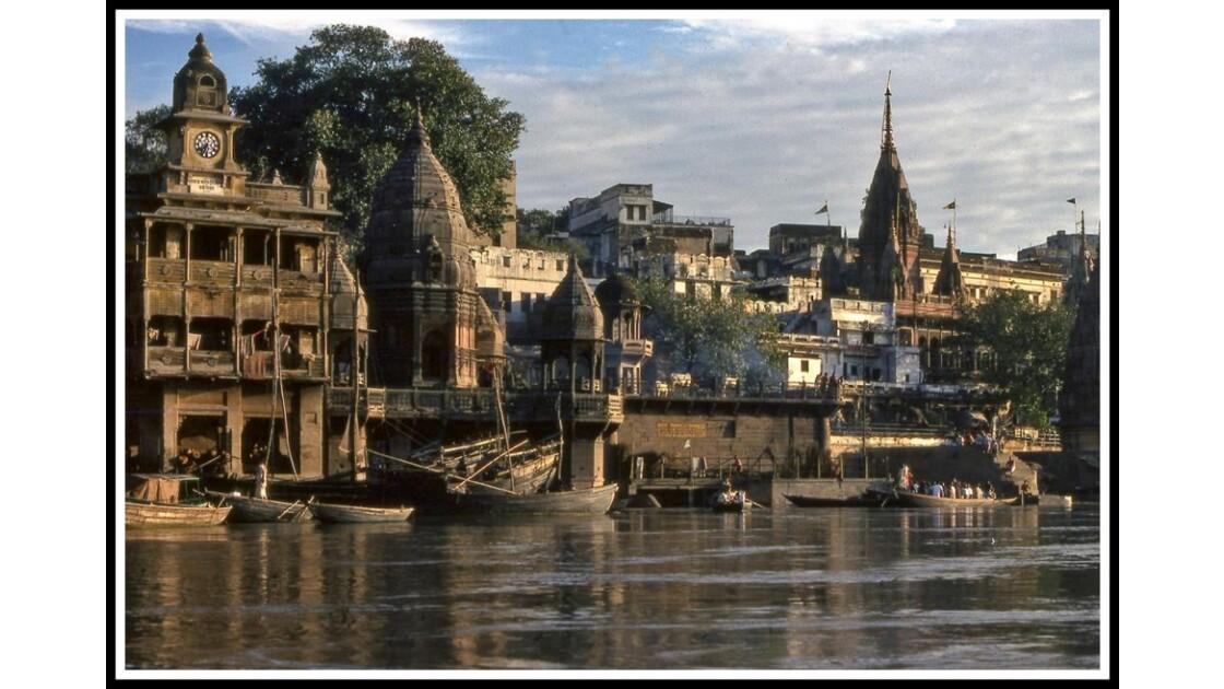 Inde du Nord. Bénarès, le Gange. 1977