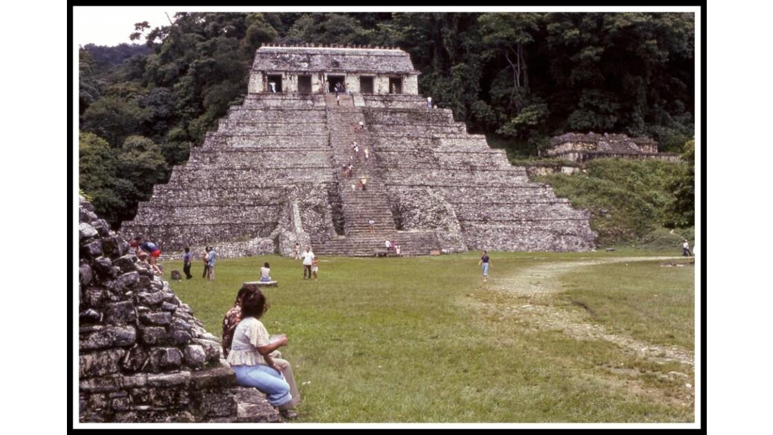 Mexique. Yucatan, ruine Mayas.  1978
