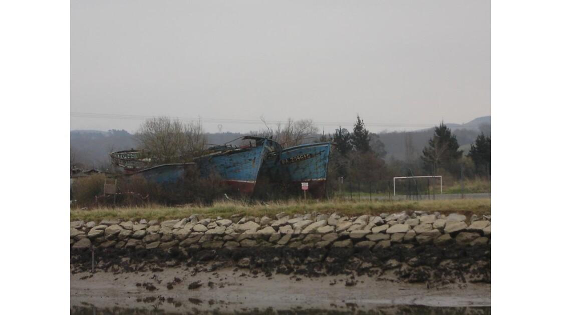 cimetière à épaves de bateaux