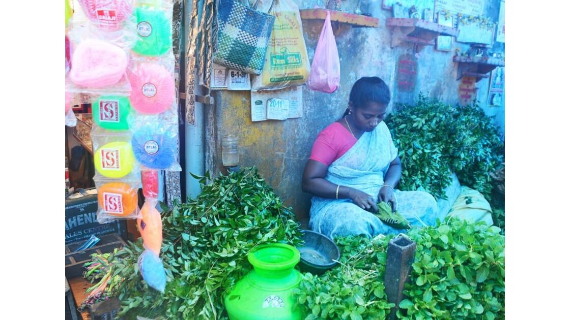 Le marché à Pondichéry (2)