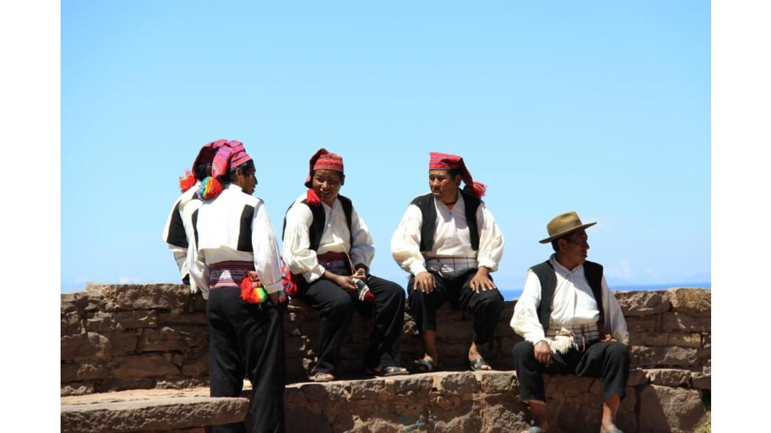Habitants ile de Taquile