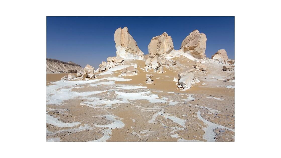 Mélange de sable et de craie