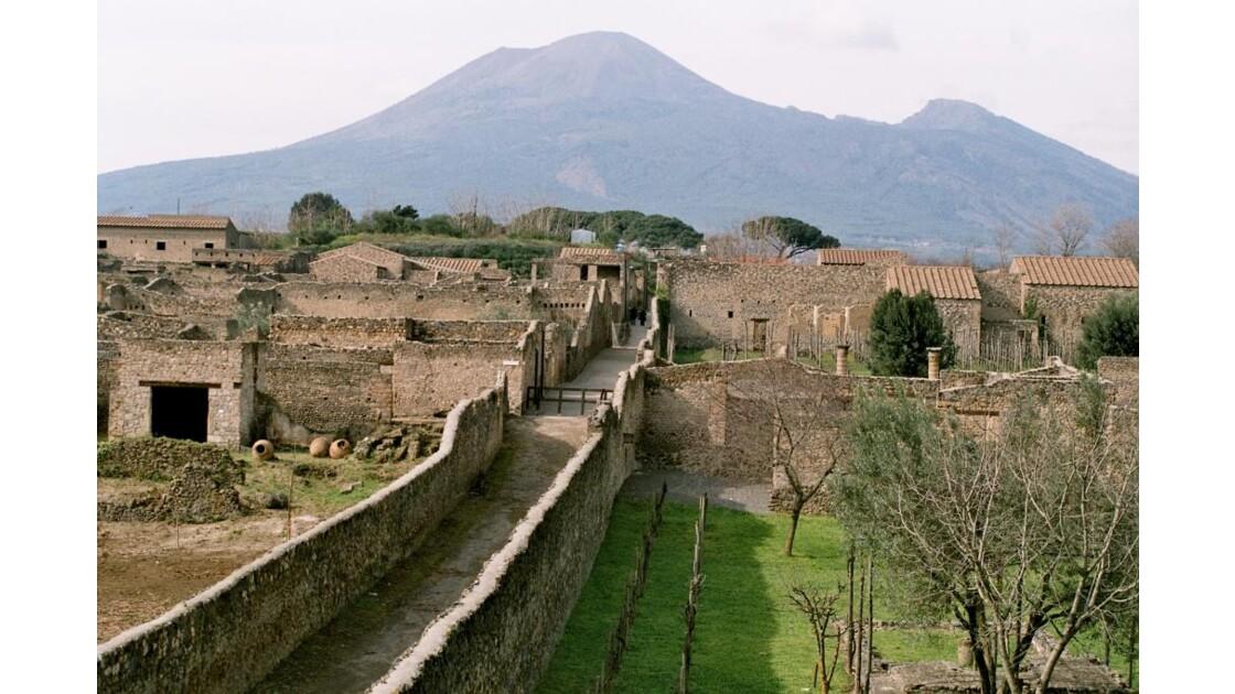 Pompeï et le Vésuve.