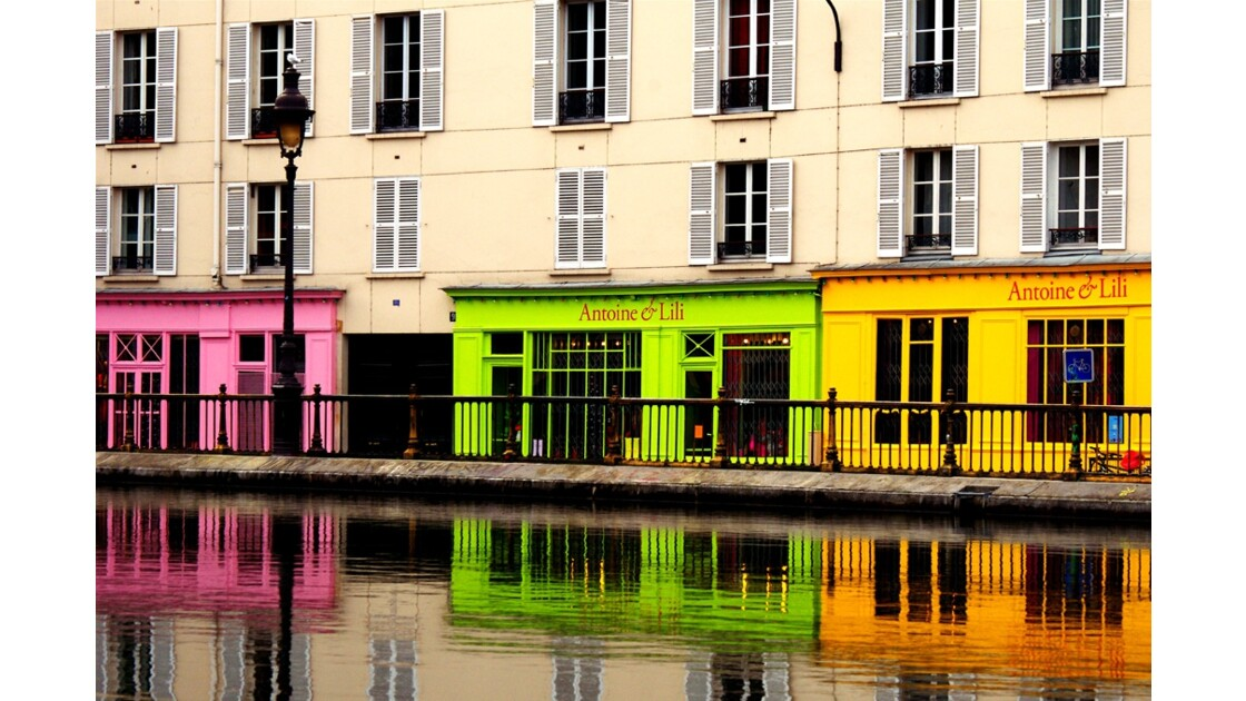Couleurs du Canal St Martin.
