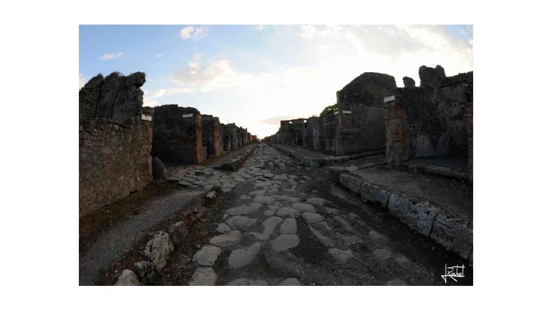 Fin de journée à Pompéi...