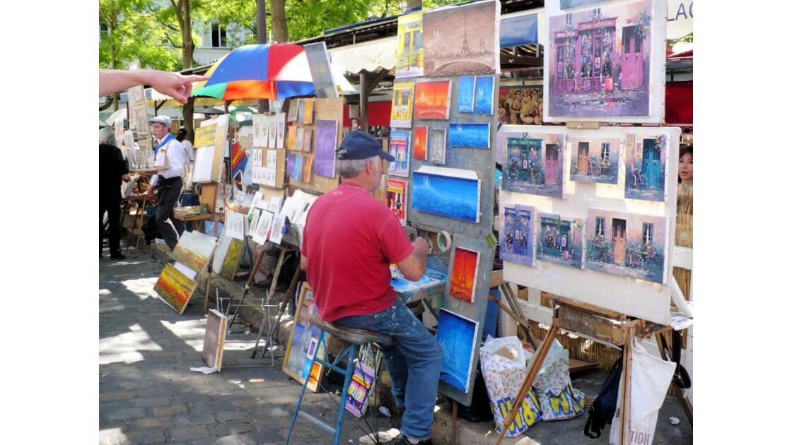 Un peintre, place du Tertre
