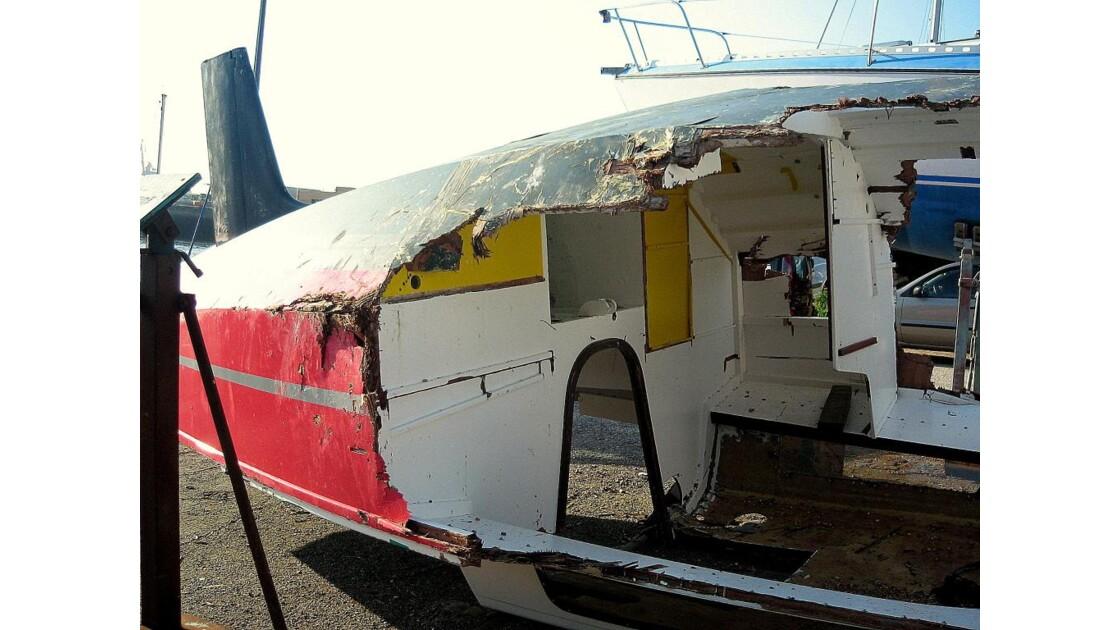 Après collision en mer....!!