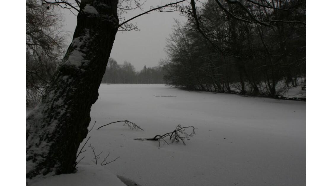 lac enneigé Rueil Malmaison