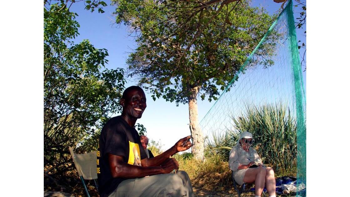 au bivouac de l'Okavango