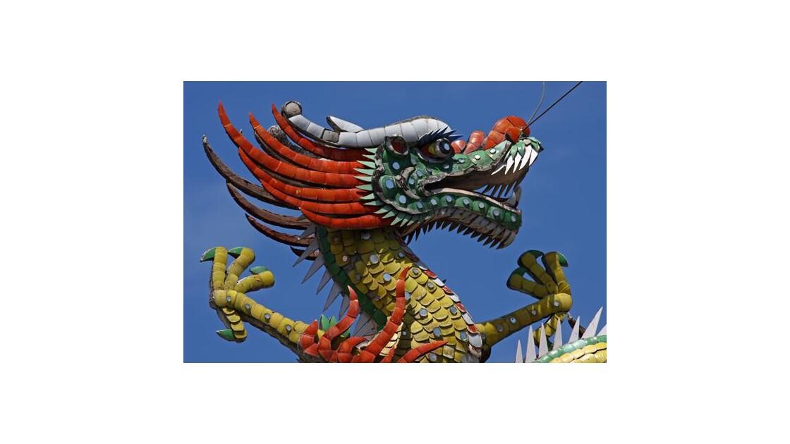 Toit de temple  chinois!  Un detail.