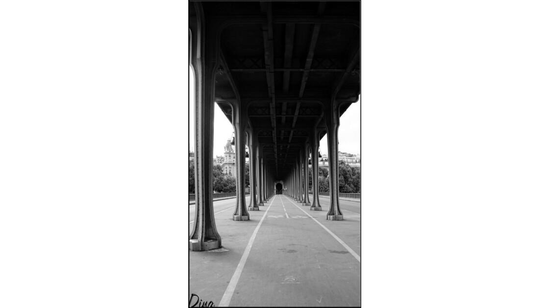 Sous le viaduc du pont de Bir-Hakeim