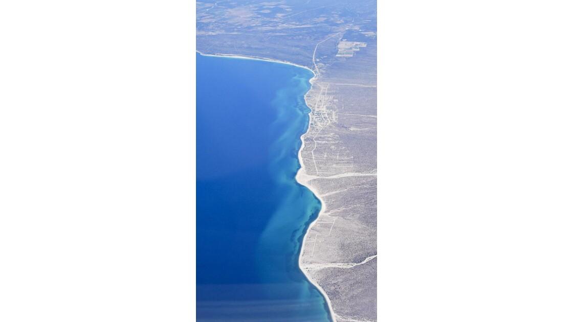 La côte vue d'avion